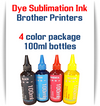 4 Color Dye Sublimation Ink Brother printers 100ml bottle ink