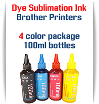 4 Color Dye Sublimation Ink Brother printers 100ml bottle ink