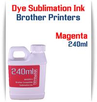 Magenta Dye Sublimation Ink Brother printers 240ml bottle ink