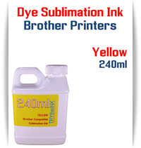 Yellow Dye Sublimation Ink Brother printers 240ml bottle ink