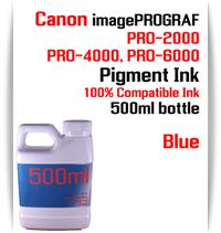 Blue 500ml bottle Pigment Ink Canon imagePROGRAF PRO printers  CANON imagePROGRAF PRO-500, PRO-520, PRO-540, PRO-560, PRO-1000, PRO-2000, PRO-4000, PRO-6000 printers