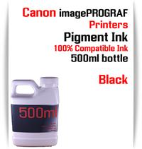 Black 500ml bottle Pigment Ink Canon imagePROGRAF iPF printers  CANON imagePROGRAF iPF6300, iPF6350, iPF6400, iPF6410, iPF6450, iPF6460, iPF8300, iPF8400, iPF8410, iPF9300, iPF9400, iPF9410 printers