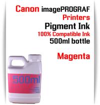 Magenta 500ml bottle Pigment Ink Canon imagePROGRAF iPF printers  CANON imagePROGRAF iPF6300, iPF6350, iPF6400, iPF6410, iPF6450, iPF6460, iPF8300, iPF8400, iPF8410, iPF9300, iPF9400, iPF9410 printers