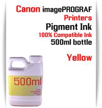 Yellow 500ml bottle Pigment Ink Canon imagePROGRAF iPF printers  CANON imagePROGRAF iPF6300, iPF6350, iPF6400, iPF6410, iPF6450, iPF6460, iPF8300, iPF8400, iPF8410, iPF9300, iPF9400, iPF9410 printers