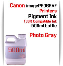 Photo Gray 500ml bottle Pigment Ink Canon imagePROGRAF iPF printers  CANON imagePROGRAF iPF6300, iPF6350, iPF6400, iPF6410, iPF6450, iPF6460, iPF8300, iPF8400, iPF8410, iPF9300, iPF9400, iPF9410 printers