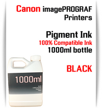 Black 1000ml bottle Pigment Ink Canon imagePROGRAF iPF printers  CANON imagePROGRAF iPF6300, iPF6350, iPF6400, iPF6410, iPF6450, iPF6460, iPF8300, iPF8400, iPF8410, iPF9300, iPF9400, iPF9410 printers
