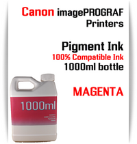 Magenta 1000ml bottle Pigment Ink Canon imagePROGRAF iPF printers  CANON imagePROGRAF iPF6300, iPF6350, iPF6400, iPF6410, iPF6450, iPF6460, iPF8300, iPF8400, iPF8410, iPF9300, iPF9400, iPF9410 printers
