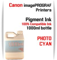 Photo Cyan 1000ml bottle Pigment Ink Canon imagePROGRAF iPF printers  CANON imagePROGRAF iPF6300, iPF6350, iPF6400, iPF6410, iPF6450, iPF6460, iPF8300, iPF8400, iPF8410, iPF9300, iPF9400, iPF9410 printers