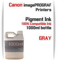 Gray 1000ml bottle Pigment Ink Canon imagePROGRAF iPF printers  CANON imagePROGRAF iPF6300, iPF6350, iPF6400, iPF6410, iPF6450, iPF6460, iPF8300, iPF8400, iPF8410, iPF9300, iPF9400, iPF9410 printers