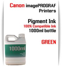 Green 1000ml bottle Pigment Ink Canon imagePROGRAF iPF printers  CANON imagePROGRAF iPF6300, iPF6350, iPF6400, iPF6410, iPF6450, iPF6460, iPF8300, iPF8400, iPF8410, iPF9300, iPF9400, iPF9410 printers