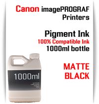 Matte Black 1000ml bottle Pigment Ink Canon imagePROGRAF iPF printers  CANON imagePROGRAF iPF6300, iPF6350, iPF6400, iPF6410, iPF6450, iPF6460, iPF8300, iPF8400, iPF8410, iPF9300, iPF9400, iPF9410 printers