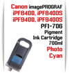 Photo Cyan - PFI-706 compatible Pigment Ink cartridge 700ml Canon imagePROGRAF Printers  Works with:  CANON imagePROGRAF iPF8400 iPF8400S iPF8400SE iPF8410 iPF8410S iPF9400 iPF9400S iPF9410 iPF9410S printers
