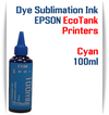 Cyan EPSON EcoTank 100ml bottle Dye Sublimation Bottle Ink