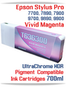 T636300 Vivid Magenta - Epson Stylus Pro UtraChrome HDR Pigment Compatible Ink Cartridge 700ml