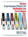6 Refillable Ink Cartridges (empty) Epson Expression Photo XP-850, XP-860, XP-950, XP-960 Printers