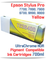 T636400 Yellow - Epson Stylus Pro UtraChrome HDR Pigment Compatible Ink Cartridge 700ml