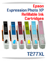 6 Refillable Ink Cartridges (empty) Epson Expression Photo XP-850, XP-860, XP-950, XP-960 Printers