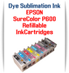 9 - Dye Sublimation Ink Refillable Cartridges Epson SureColor P600 printer