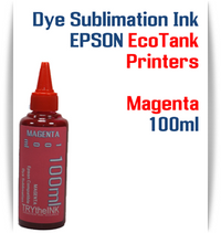 Magenta EPSON EcoTank printer Dye Sublimation Ink 1000ml bottle  EPSON Expression ET-2500 EcoTank Printer, EPSON Expression ET-2550 EcoTank Printer, EPSON Expression ET-2600 EcoTank Printer, EPSON Expression ET-2650 EcoTank Printer, EPSON Expression ET-2700 EcoTank Printer, EPSON Expression ET-2750 EcoTank Printer, EPSON Expression ET-3600 EcoTank Printer, EPSON Expression ET-3700 EcoTank Printer  EPSON WorkForce ET-3750 EcoTank Printer, EPSON WorkForce ET-4500 EcoTank Printer, EPSON WorkForce ET-4550 EcoTank Printer, EPSON WorkForce ET-4750 EcoTank Printer, EPSON WorkForce ET-16500 EcoTank Printer