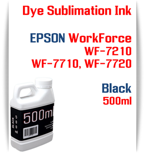Black 500ml Dye Sublimation ink Epson WF-7210 WF-7710 WF-7720 printers