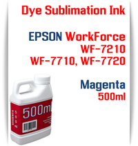 Magenta 500ml bottle Dye Sublimation Ink  Epson WorkForce WF-7210, WorkForce WF-7710, WorkForce WF-7720 printers