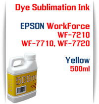 Yellow 500ml bottle Dye Sublimation Ink  Epson WorkForce WF-7210, WorkForce WF-7710, WorkForce WF-7720 printers