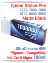T636800 Matte Black - Epson Stylus Pro UtraChrome HDR Pigment Compatible Ink Cartridge 700ml