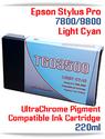 T603500 Light Cyan Epson Stylus Pro 7800, 9800 Compatible Pigment Ink Cartridges 220ml