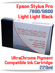 T603900 Light Light Black Epson Stylus Pro 7800/9800 Compatible Pigment Ink Cartridges 220ml