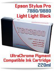 T603900 Light Light Black Epson Stylus Pro 7880, 9880 Compatible Pigment Ink Cartridges 220ml