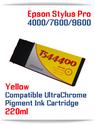 T544400 Yellow Epson Stylus Pro 7600/9600 Compatible Pigment Ink Cartridges 220ml