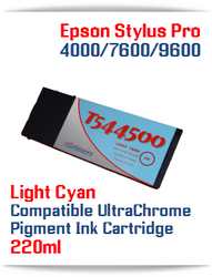 T544500 Light Cyan Epson Stylus Pro 7600/9600 Compatible Pigment Ink Cartridges 220ml