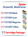 11 Cartridge Package T127 Epson WorkForce Compatible Ink Cartridges