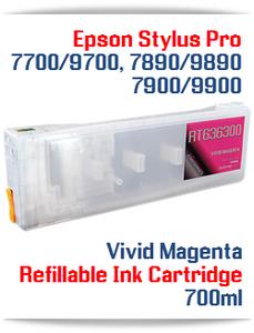 Vivid Magenta Epson Stylus Pro 7900, 9900 Refillable Ink Cartridges