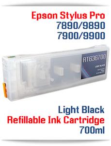 Light Black Epson Stylus Pro 7900, 9900 Refillable Ink Cartridges