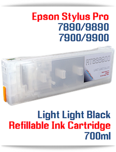 Light Light Black Epson Stylus Pro 7900, 9900 Refillable Ink Cartridges