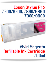 Vivid Magenta Epson Stylus Pro 7890/9890 Refillable Ink Cartridges