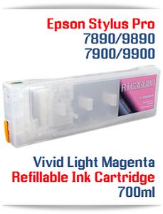 Vivid Light Magenta Epson Stylus Pro 7890/9890 Refillable Ink Cartridges