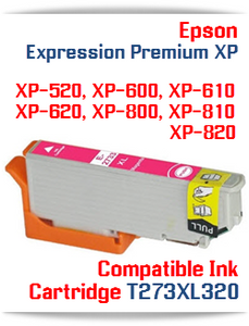 T273XL320 Magenta Epson Expression Premium XP Compatible Printer Ink Cartridge