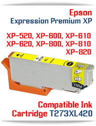 T273XL420 Yellow Epson Expression Premium XP Compatible Printer Ink Cartridge