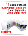 11 Color Package Refill UltraChrome HDR Pigment Ink 1000ml  Epson Stylus Pro 4900, 7900, 9900 Printers