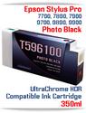 T596100 Photo Black Epson Stylus Pro 7900/9900 UtraChrome HDR Pigment Compatible Ink Cartridge 350ml