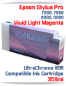 T596600 Vivid Light Magenta Epson Stylus Pro 7900/9900 UtraChrome HDR Pigment Compatible Ink Cartridge 350ml