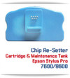 Chip Re-setter Compatible with Epson Stylus Pro 4000/7600/9600 printer Cartridges and Maintenance Tanks