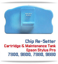 Chip Re-setter Compatible with Epson Stylus Pro 7800, 9800, 7880, 9880 printer Cartridge and Maintenance Tanks