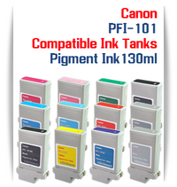 PFI-101 Canon Compatible Pigment Printer Ink Tanks 130ml