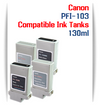 PFI-103 Canon Compatible Pigment Ink Tanks 130ml
