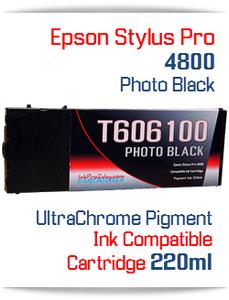 Photo Black Epson Stylus Pro 4800 Printer Compatible Ink Cartridge 220ml