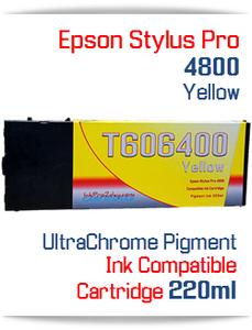 Yellow Epson Stylus Pro 4800 Printer Compatible Ink Cartridge 220ml