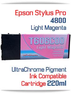 Light Magenta Epson Stylus Pro 4800 Printer Compatible Ink Cartridge 220ml